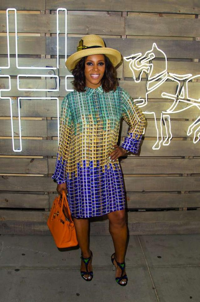 Trends Look Best with Confidence  Want to be able to rock a Pharrell-esque hat and look cool while doing so? Take a cue from style maven June Ambrose and trust that it looks good. Also, don't overwhelm the look with too many trends so that your main trend can shine, not clash.