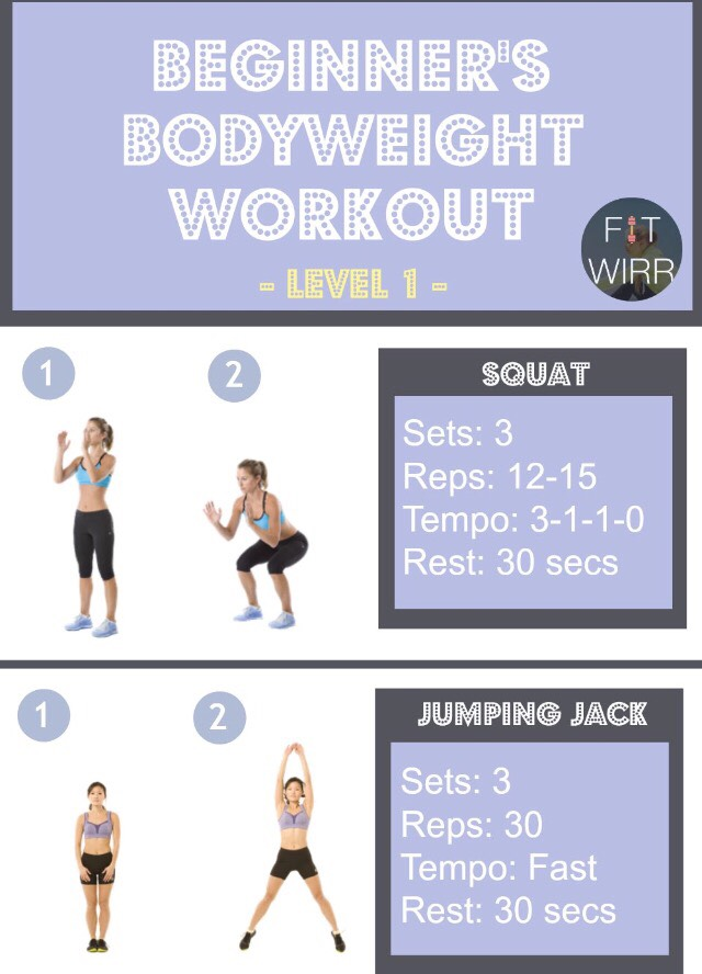 🐥Beginners Body weight Workout: Level 1🐥 by Lettie Valentine - Musely