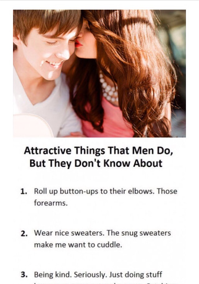 attractive things about guys