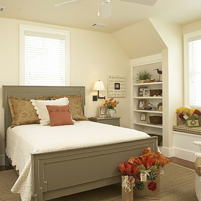 make the guest bedroom so cheap. but make it look nice. so that nobody will notice its cheap