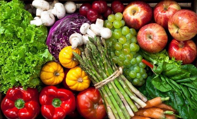 Eat lots of fruits and vegetables!