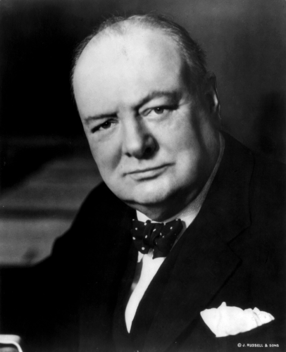 Winston Churchill: secretly a party animal. His ritual included a short nap, a bath and drinks well past midnight. Due to his sporadic schedule, the British prime minister was said to hold war cabinet meetings in the bath.
