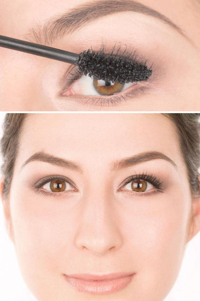 Apply 2 coats of mascara