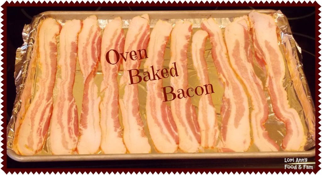 Baked your bacon on cookie sheets lined with wax paper or foil to your desired crispness.