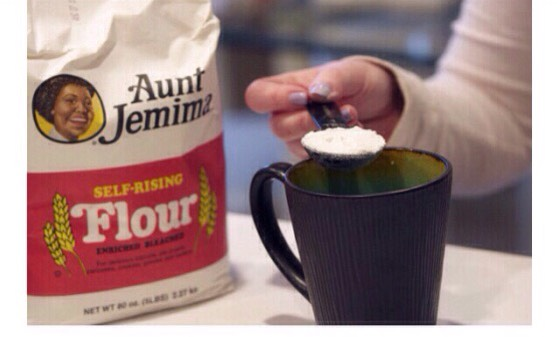 4 tablespoons of self-rising flour  Make 1cup self-rising flour 1 cup flour 1 1/2 teaspoon baking powder  1/4 teaspoon salt