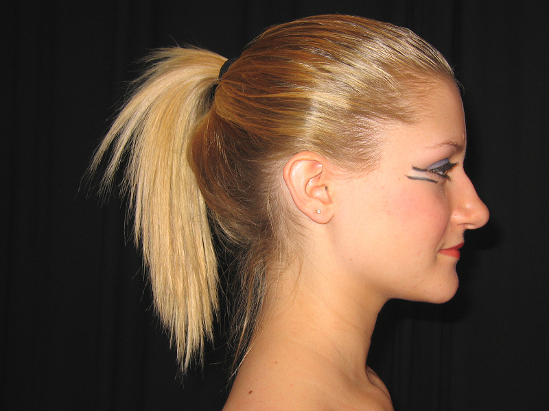 putting your hair in a tight ponytail will help stimulate and help your hair grow as well