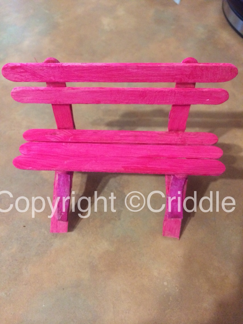 Phenomenal Making Furniture For My Fairy Garden Mini Bench Seat By Bralicious Painted Fabric Chair Ideas Braliciousco