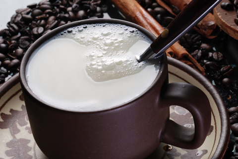 1. Warm Milk While any dairy product has a requisite blend of calcium and tryptophan that theoretically translates into s-l-e-e-p, the belief is that the act of drinking warm milk before bed has the added benefit of being an old wives' tale, which makes for a placebo leading to a restful night.