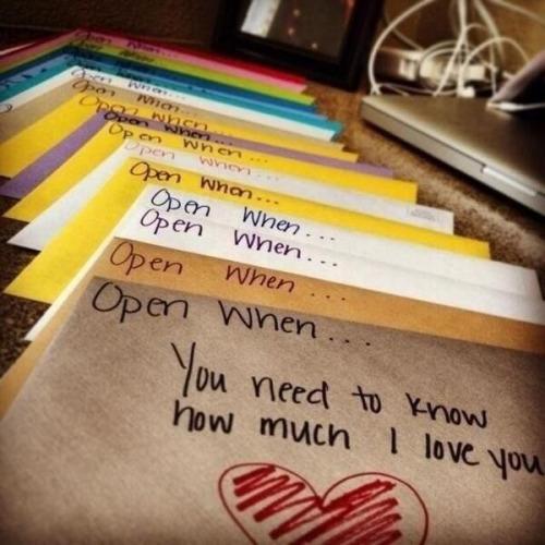 Open When...Letters
