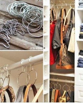 Hang Bags In Hall Closet/lower Retention Bar In Closet! With Shower Hooks!