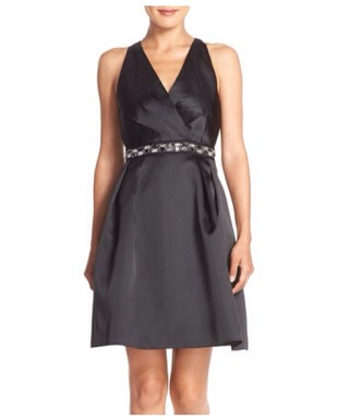 Adrianna Papell Embellished Mikado Fit & Flare Dress (nordstrom.com)