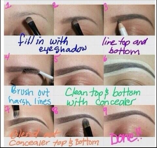 You can actually fill in eyebrows with matte eyeshadow 😯