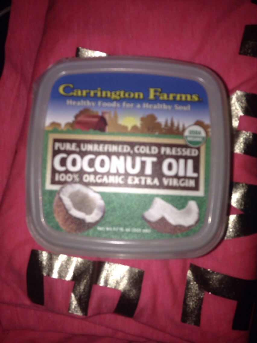 I also use coconut oil as a hair mask. Put coconut oil in your damp hair and let it sit 45 minutes to an hour and then wash it out. Your hair will never feel so soft or look so shiny