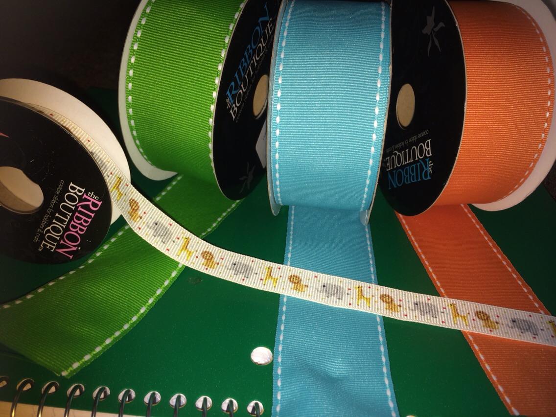 Buy decorative ribbons at hobby lobby or local craft store.