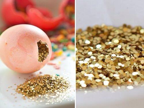 Glitter confetti egg shell