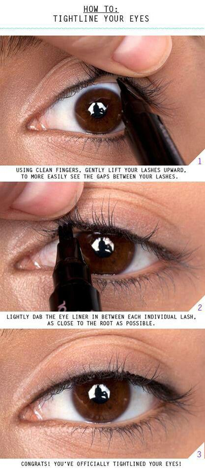 3. If you don't want thick liner, learn how to tightline. It looks subtle but still makes your eyes stand out.