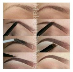 Now you fill in your eyebrows don't do it too sharply or dark or you will look stupid!
