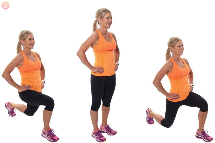 *FORWARD LUNGES*  Set: 2   Do 30 Rest: 15 secs