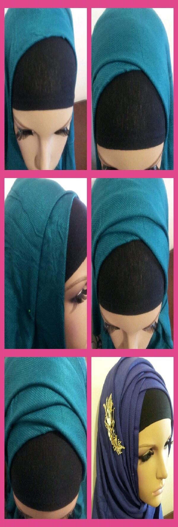 zigzag hijab step by step