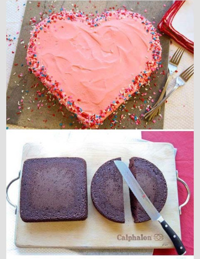 Bake a square cake AND a circle cake