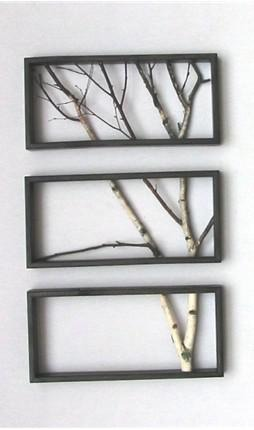 3. Place branches across the frame (however you would like them to be!)  4. Use a staple gun on both ends to secure the branches to the frame  5. Use clippers to trim any oversize branches  Easy, simple, done! Hang it up for everyone to adore!