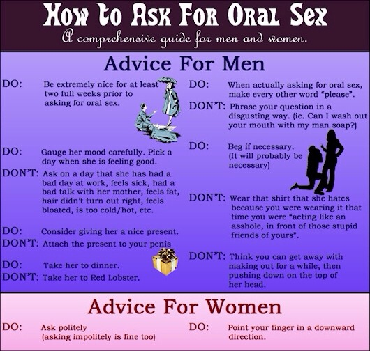 Tips for oral sex for men