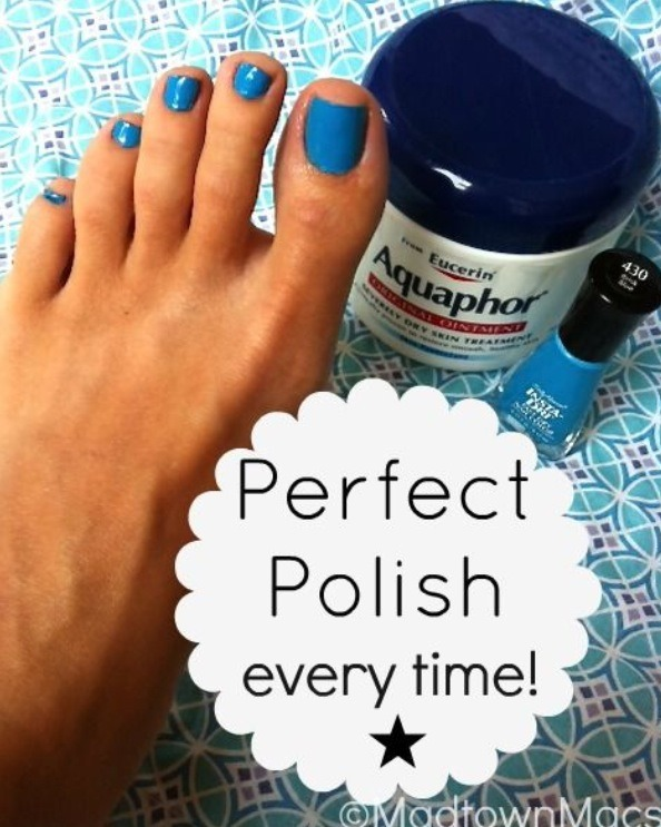 Just put lotion around your nail, then paint and wipe it off with a q-tip. I also heard that glue does the trick as well! I'm gonna try both!