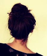 A twist top bun is great for traveling, out of the way,andcomfortable💚