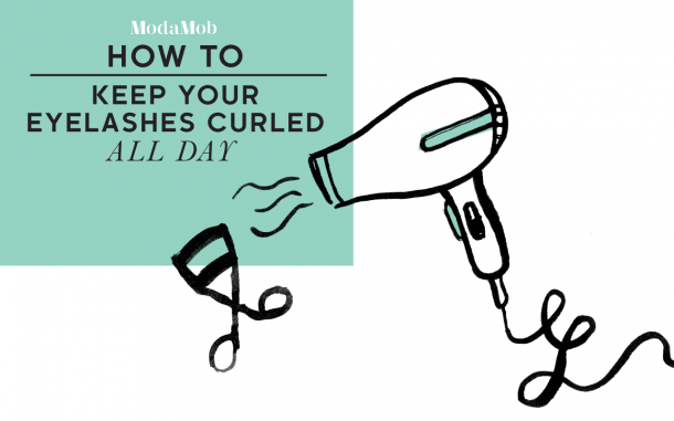 by blowdrying your eyelash curler it will have the same affect as your curling iron and your eyelashes will be long and curly