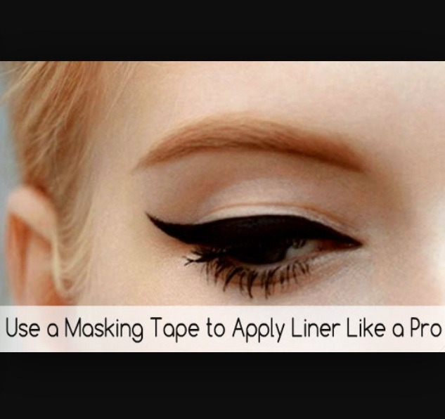 Tape can be used as quick and handy winged liner aid!!