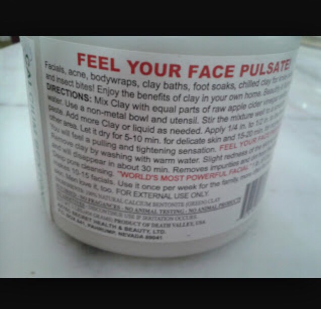 You will literally feel your face pulsate. IT'S WORKING!!! Try not to move your face as it is drying because the. It will crack and get everywhere.