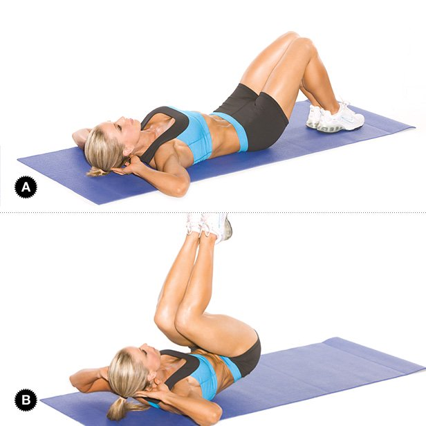 20 reverse crunches