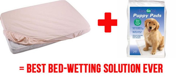 Do your little ones wet the bed? Try puppy pads.