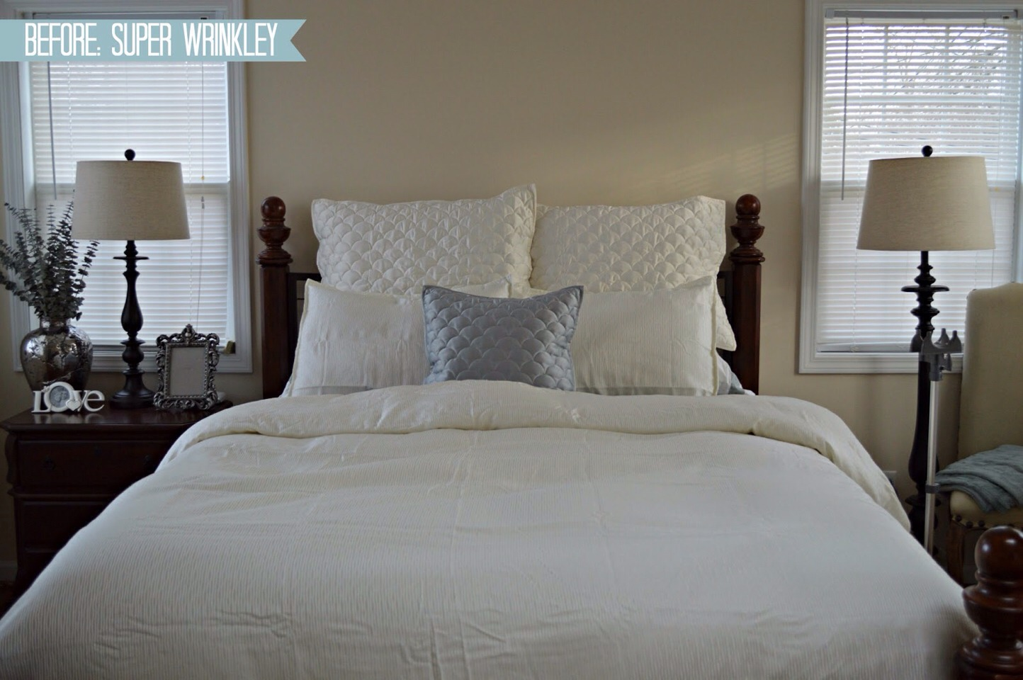 Make sure you have clean sheets to reduce risk of breakouts and silk pillowcases also help of you have spot prone skin