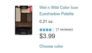 I love the nude colors in this palette. Wet n wild also has many different colors of eyeshadow palettes, but I personally am in love with the nudes.