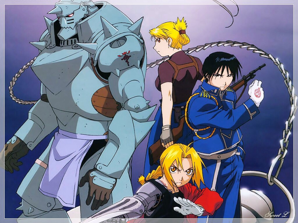 Full metal alchemist: 2 young boys are on a search to redeem themselves from a grave mistake that resulted in the loss of limbs and the loss of a body.