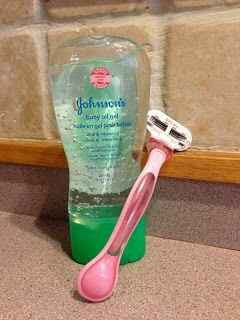 Shave with baby oil instead to avoid irritation