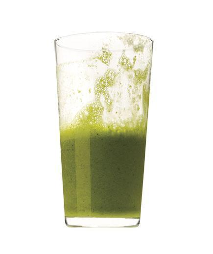 Banana, Kale, and Almond Milk Smoothie  In a blender, puree 1 medium banana, 1 cup chopped kale, and 1 cup almond milk until smooth.  201 Calories   5g Fiber   5g Protein   4g Fat  