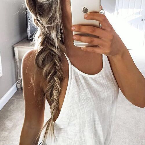 Put your hair in a simple braid or two before you go to sleep. You will wake up without the usual bed head and your hair will be calmer and wavier! 🌞🌞 than your can wear it down/put it in a messy bun or put it in a new braid.