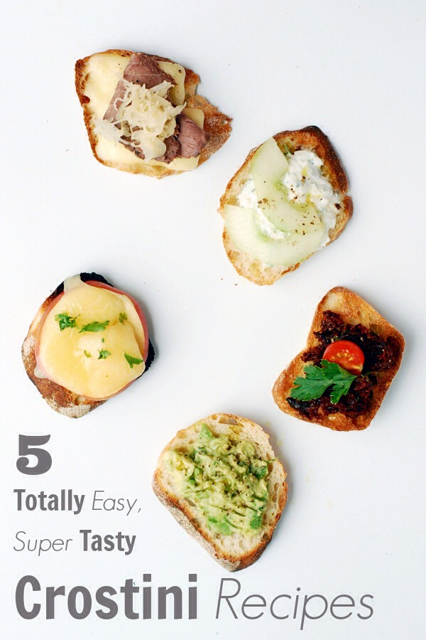 5 Easy Crostini Recipes for Your Next Tailgate  Crostini are simple to make and easy to eat. Either made ahead of time or on the spot, endless adaptability makes crostini the perfect appetizer. Click through for 5 easy, totally delicious recipes sure to make your next tailgate a win!