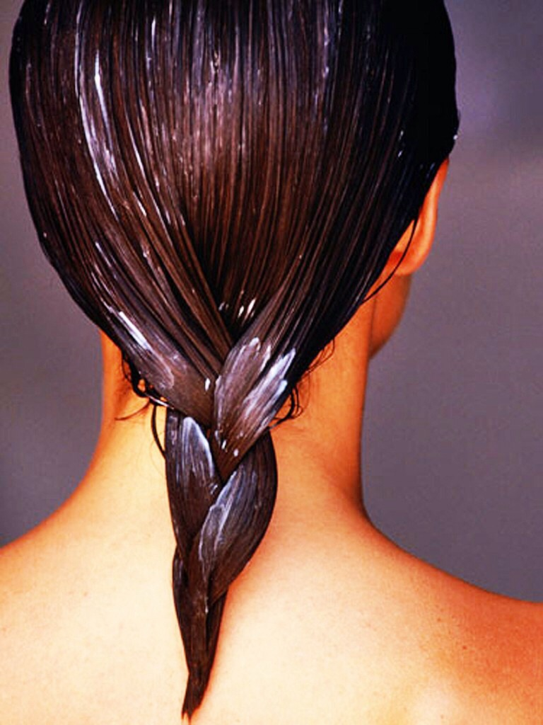 Now apply the mixture to your hair. Make sure your massaging the mask in. Messaging the scalp promotes hair growth!