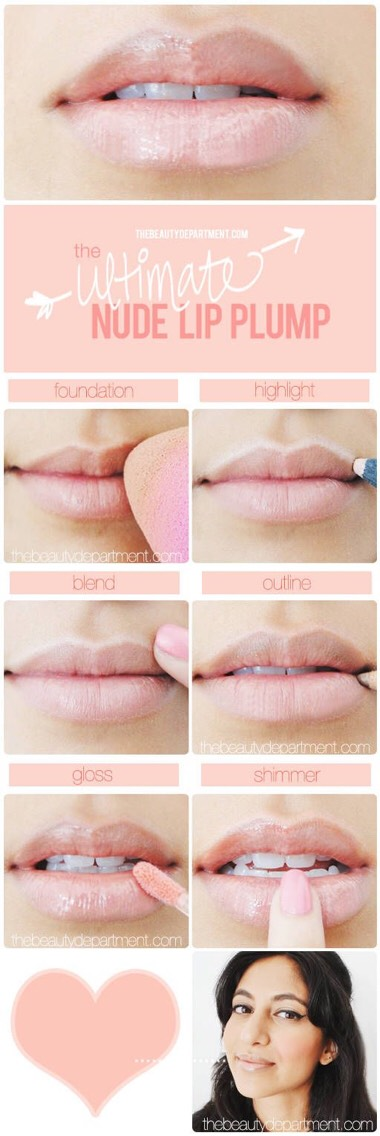 Lip contour with a pale color Will make your lips pop! 💋💋💋
