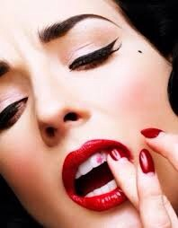 Put your finger in your mouth, put your lips around it and put it out!