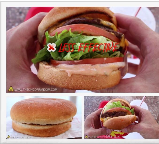 Hack #4:Eat Your Hamburger Upside Down