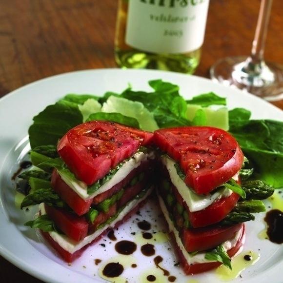 Asparagus Caprese Salad Sandwich
