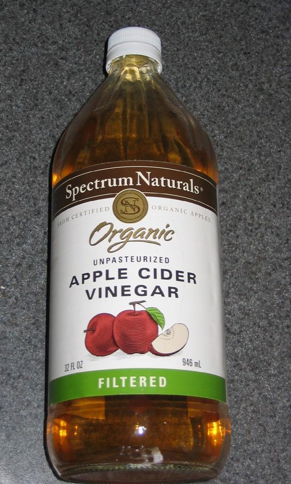 1/2 warm Apple cider vinegar