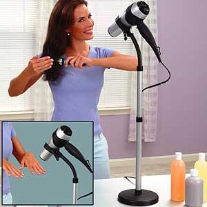 39. Drying your hair takes so much work. Get a hair dryer holder and make your life a thousand times easier.
