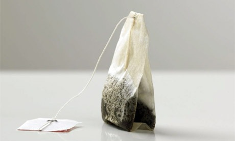 Placing a cold black tea bag on each eye for approximately 10 minutes can help reduce eye puffiness.