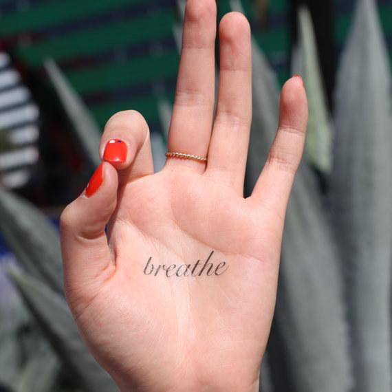 This tiny temporary tattoo reminder.By Spirit Ink,