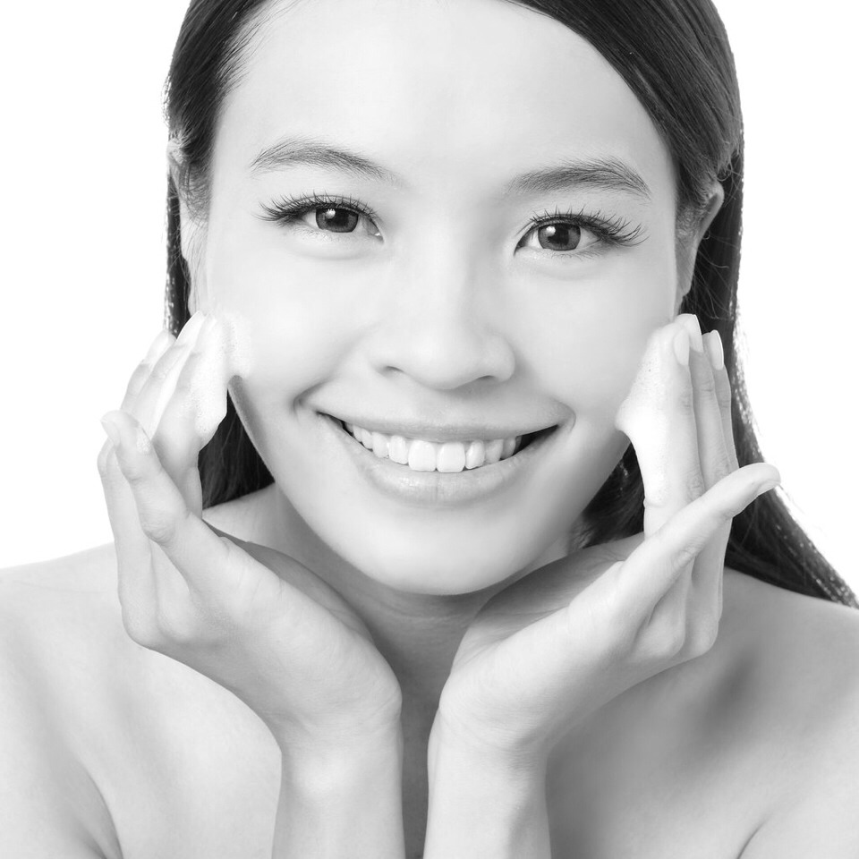 Gently rub and massage 1.Cheeks  2. The T-Zone  3. Chin Concentrate on the part of your face where it is oily.